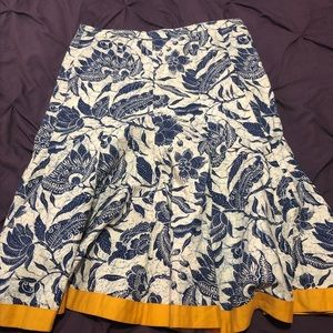 Old navy flared floral midi skirt SIze 10